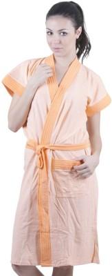Sree Lakshmi,s Orange Free Size Bath Robe