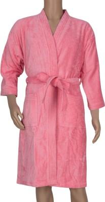 Just Linen Pink Large Bath Robe