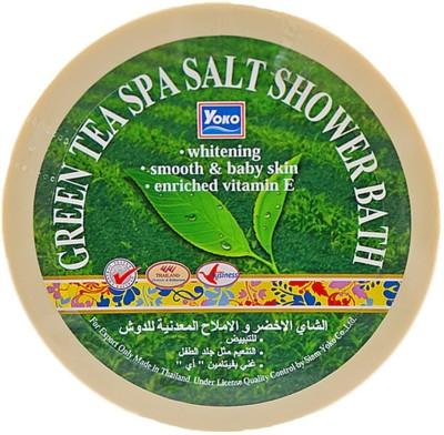 Yoko Green Tea Spa Salt Shower Bath ( Made In Thailand)