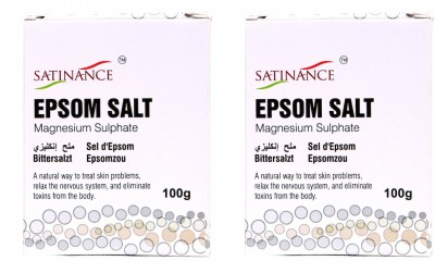 Satinance Epsom Salt 100 gm - (pack of 2...