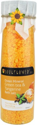 Soulflower Green Tea & Tangerine Ocean Mineral Bath Salt