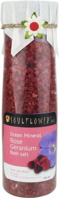 Soulflower Rose Geranium Ocean Mineral Bath Salt