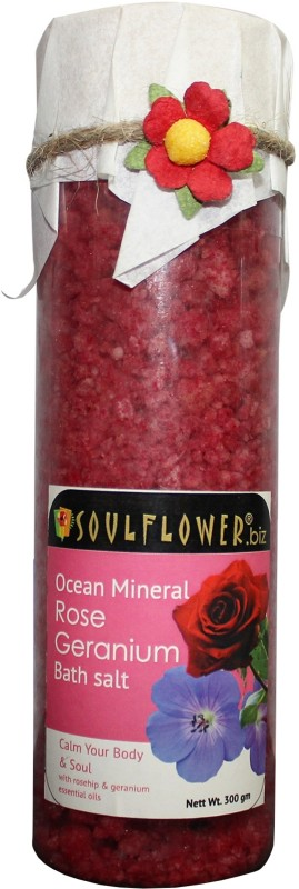 Soulflower Rose Geranium Ocean Mineral Bath Salt(300 g)