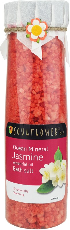 Soulflower Jasmine Ocean Mineral Bath Salt(500 g)