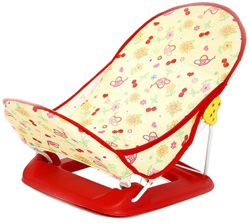 Honey Bee Premium Baby Bather Baby Bath Seat(Red)