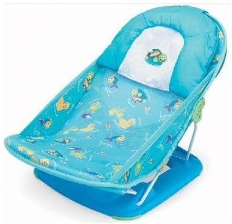 Summer Infant Deluxe Comfort Bather Baby Bath Seat(Blue)