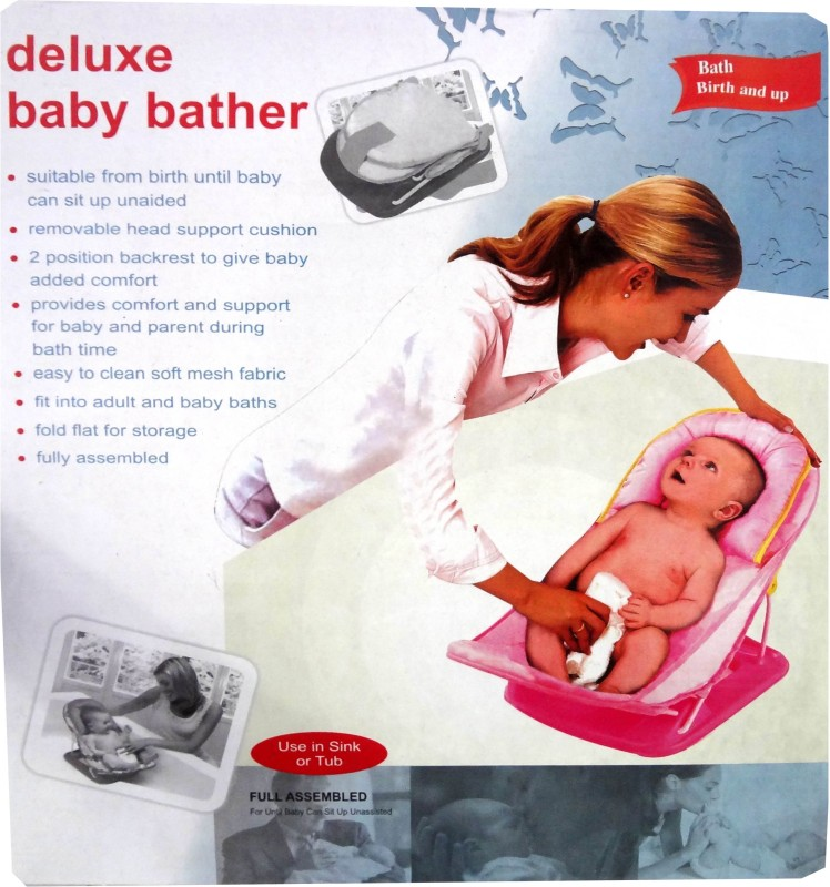 JIB Delux Baby Bather Baby Bath Seat(Blue, White)