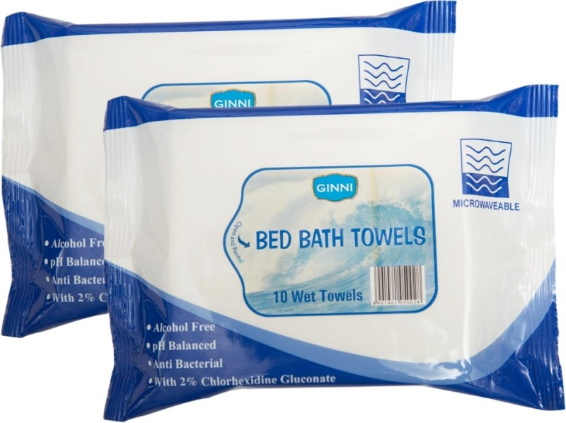 Ginni Bed Bath Wipes (For Sponge Bath)(pack of 2)(10 bathing wipes in each pack)