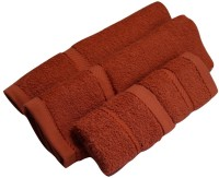 Snuggle Cotton Terry Hand & Face Towel Set(Pack of 4, Orange)