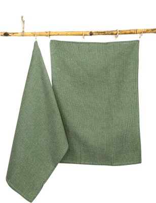 Ocean Home Store 2 Piece Cotton Bath Linen Set(Green, Pack of 2)