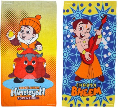 Chhota Bheem Cotton Terry Bath Towel Set
