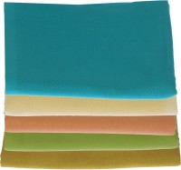 Bombay Dyeing Cotton Multi-purpose Towel(Pack of 5, Blue Brown Orange Green Gold)