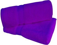 Shopping Store Poly Blend Bath Towel(Pack of 2, Purple)