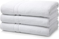 RBK Cotton Bath Towel(Pack of 3, White)