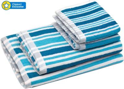 Skumars Love Touch Cotton Bath & Hand Towel Set