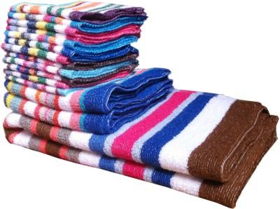 xy decor Terry Bath, Hand & Face Towel Set