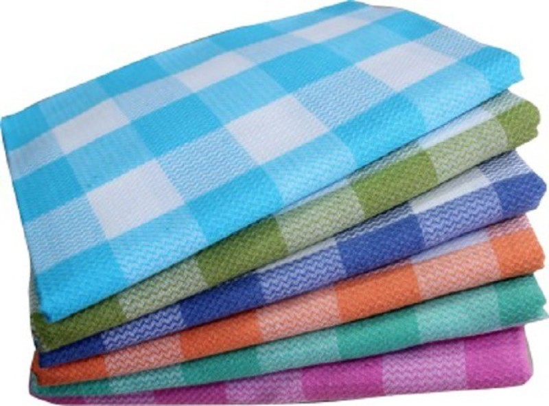 vtex Cotton Bath Towel Set(Pack of 6, Multicolor)