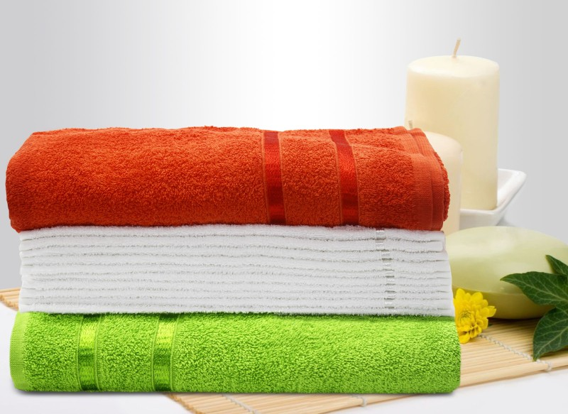 Story@home Cotton Bath & Hand Towel Set(Pack of 12, Orange)