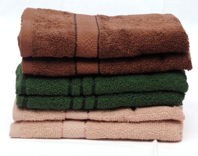 The Home Story Brown, Green Set of 6 Napkins