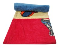 Bombay Dyeing Cotton Bath Towel(BLUE RED)