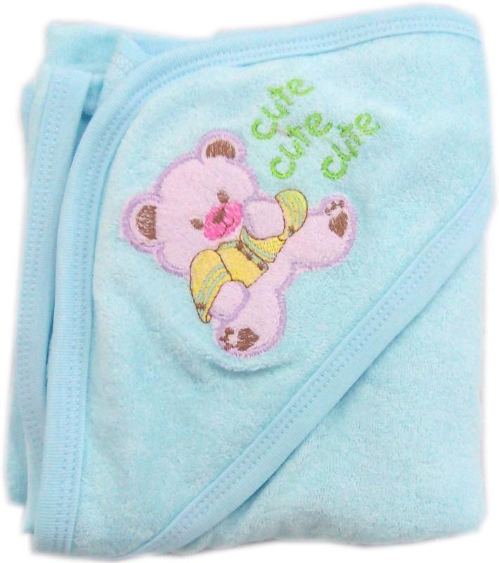 Baby's Clubb Cotton Baby Towel(Blue, Dark Blue)