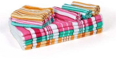Cortina Cotton Bath, Hand & Face Towel Set