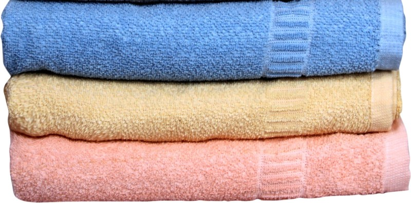 Lily Cotton Bath Towel(Pack of 3, Multicolor)