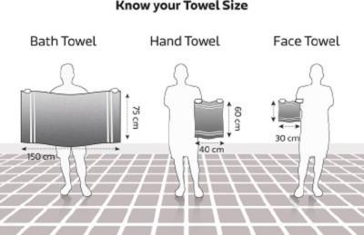 HomeTex Cotton Bath Towel