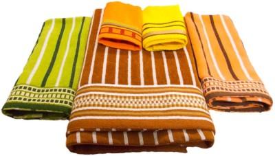 Vibrant Homze Cotton Bath, Hand & Face Towel Set