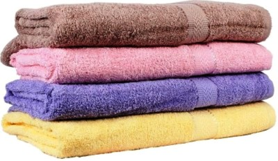 bisno Love Touch Cotton Bath Towel Set
