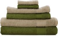 Swiss Republic Cotton Set of Towels(Pack of 6, Dark Green, Brown)