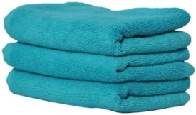 Shopping Store Cotton Bath Towel(Pack of 3, Blue)