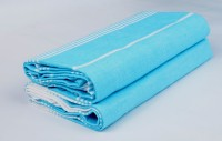 Sathiyas Cotton Bath Towel(Pack of 2, Blue, White)