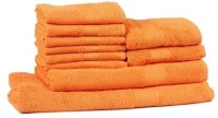 Trident Cotton Face Towel(Pack of 10, Orange)
