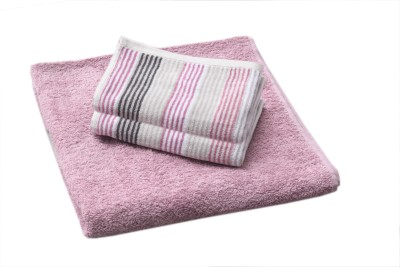 Saral Home Cotton Bath & Hand Towel Set
