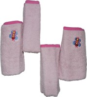 MicroCotton Cotton Face Towel(Pack of 4, Pink)