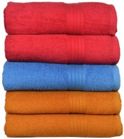 Creative Terry Cotton Bath Towel(Pack of 5, Peach)