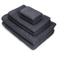 Swiss Republic Cotton Bath, Hand & Face Towel Set(Pack of 6, Dark Grey, Dark Grey)