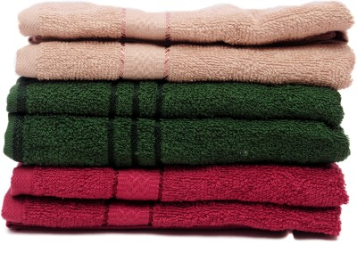 The Home Story Brown, Green, Maroon Set of 6 Napkins