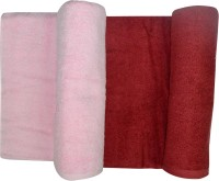 Bombay Dyeing Cotton Bath Towel(Pack of 2, Pink & Red)