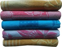 R B K Cotton Bath Towel(Pack of 5, Multicolor)