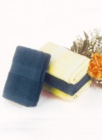 Bianca Cotton Hand Towel Set(Pack of 4, Navy, Yellow)