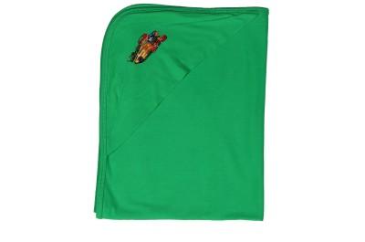 Sarodee Plain Single Hooded Baby Blanket Green