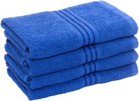 HomeStrap Cotton Hand Towel Set(Pack of 4, Blue)