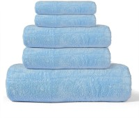 Cortina Cotton Bath, Hand & Face Towel Set(Pack of 5, Blue)