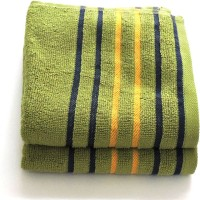 Candid Cotton Hand Towel Set(Pack of 2, Green)
