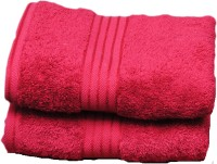 Avira Home Cotton Hand Towel Set(Pack of 2, Burgundy)