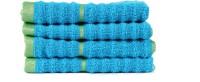 Casa Copenhagen Face Towel(Pack of 4, Blue)