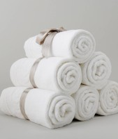 ABhomedecor Cotton Hand & Face Towel Set(Pack of 4, White)