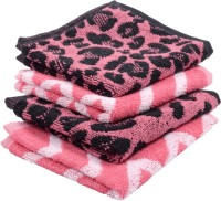 Softweave Cotton Face Towel Set(Pack of 4, Pink)